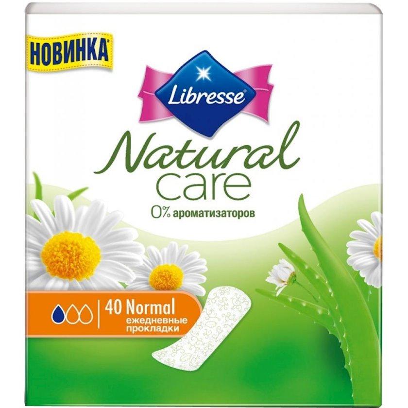 Gündəlik gigiyenik qadın bezləri Libresse Natural Care Pantyliners Normal 40 ədəd