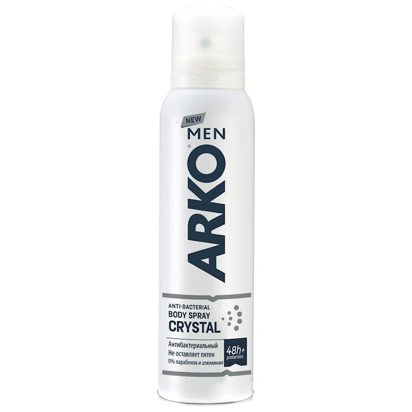 Antibakterial dezodorant-sprey kişilər üçün Arko men crystal,150 ml