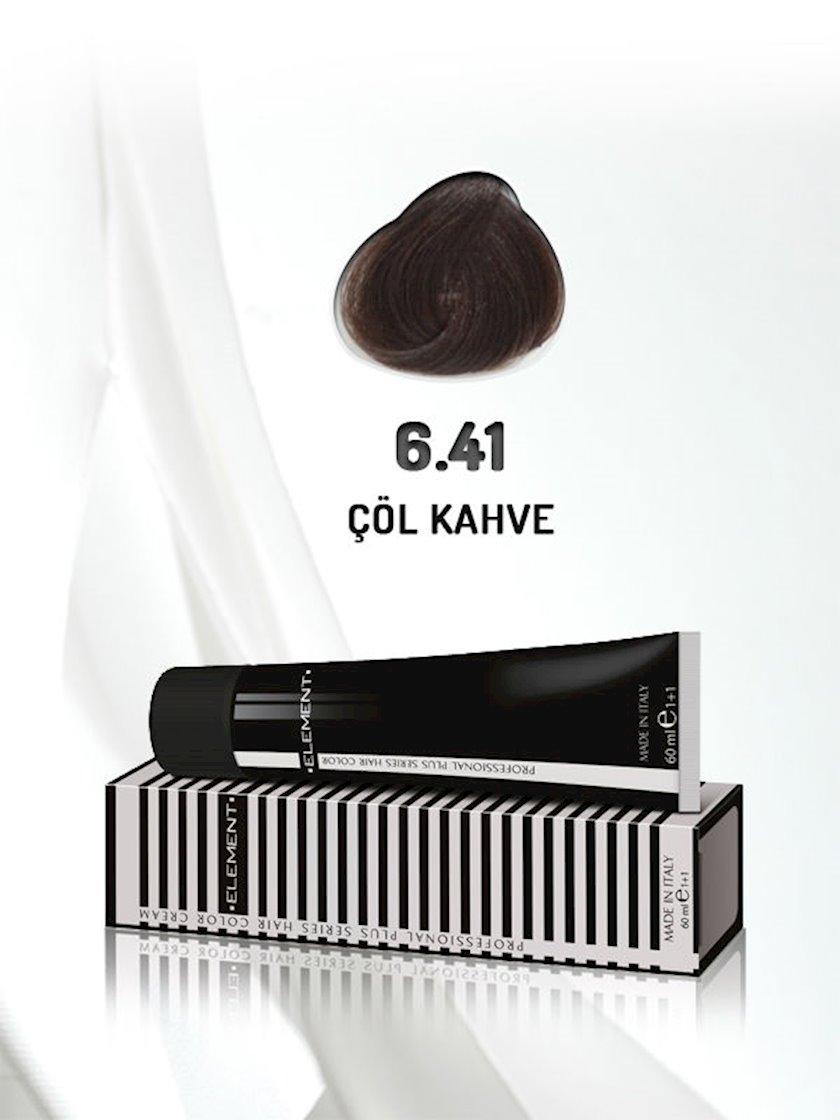 Saç boyası Element Professional Hair Color №6.41 Çöl Kahvesi 60 ml, Şabalıdı
