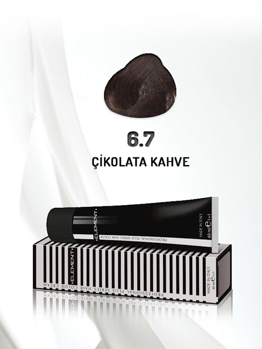 Saç boyası Element Professional Hair Color №6.7 Çikolata Kahve 60 ml, Şabalıdı