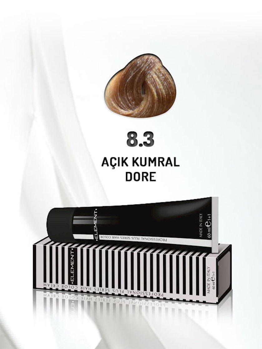 Saç boyası Element Professional Hair Color №8.3 Açık Kumral Dore 60 ml, Açıq şabalıdı qızılı