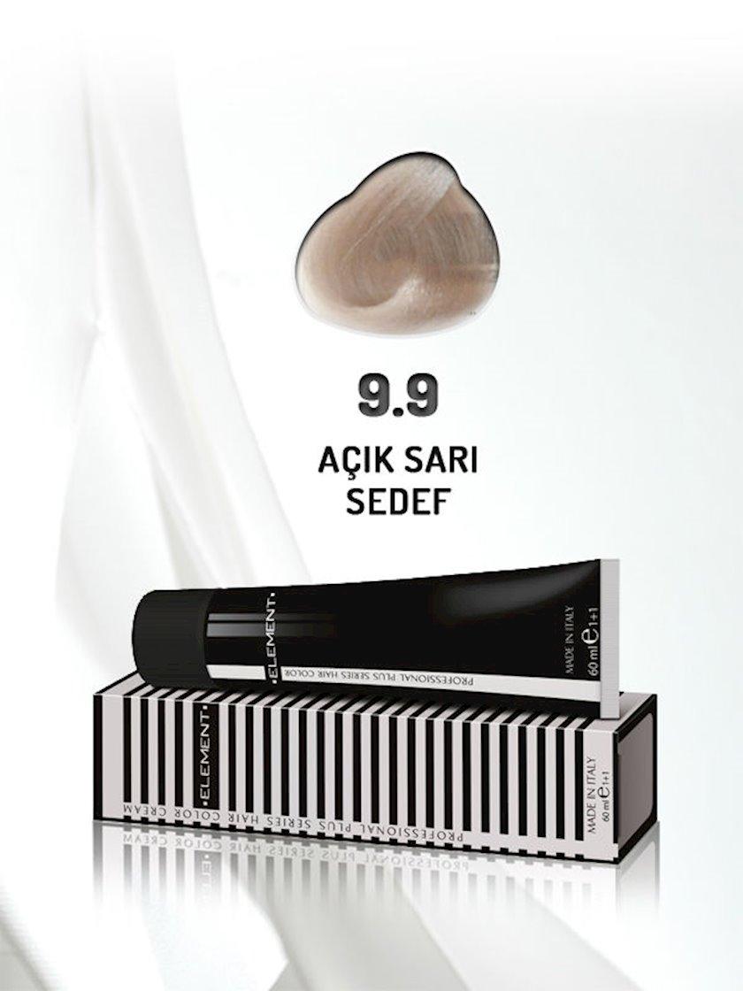 Saç boyası Element Professional Hair Color №9.9 Açık Sarı Sedef 60 ml, Açıq sarışın sədəf