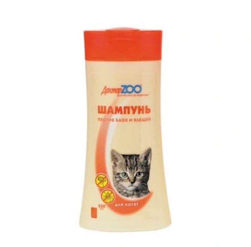 Şampun Доктор Zoo pişik balaları üçün bitlərə və gənələrə qarşı 250 ml