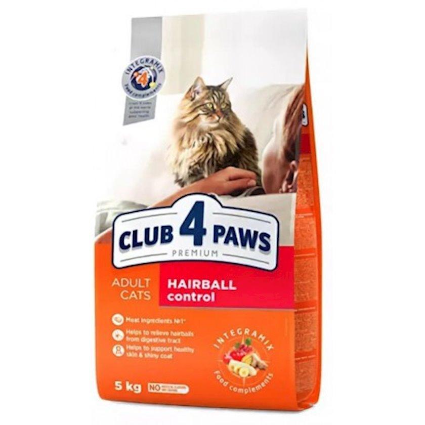 Quru yem Club 4 Paws Hairball Control böyük pişiklər üçün tük topasının əmələ gəlməsinə nəzarət 14 kq