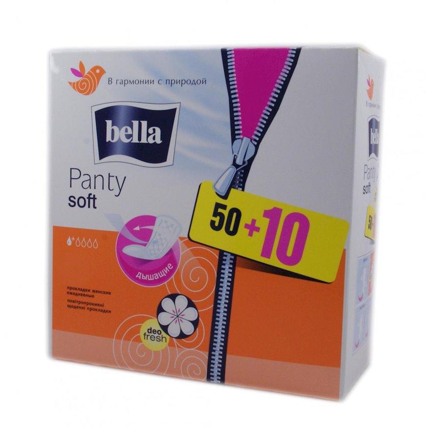 Gündəlik gigiyenik qadın bezləri Bella Panty Soft Deo Fresh 50+10 ədəd
