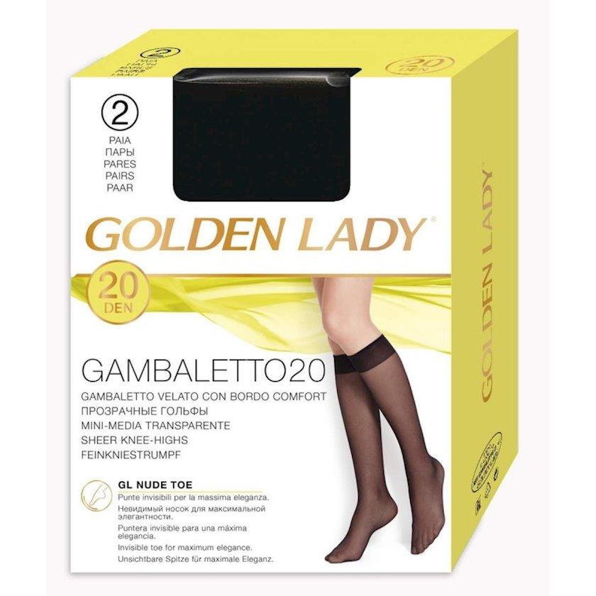 Qadınlar üçün corab Golden Lady Gambaletto Filanca, 20den, Nero, qara