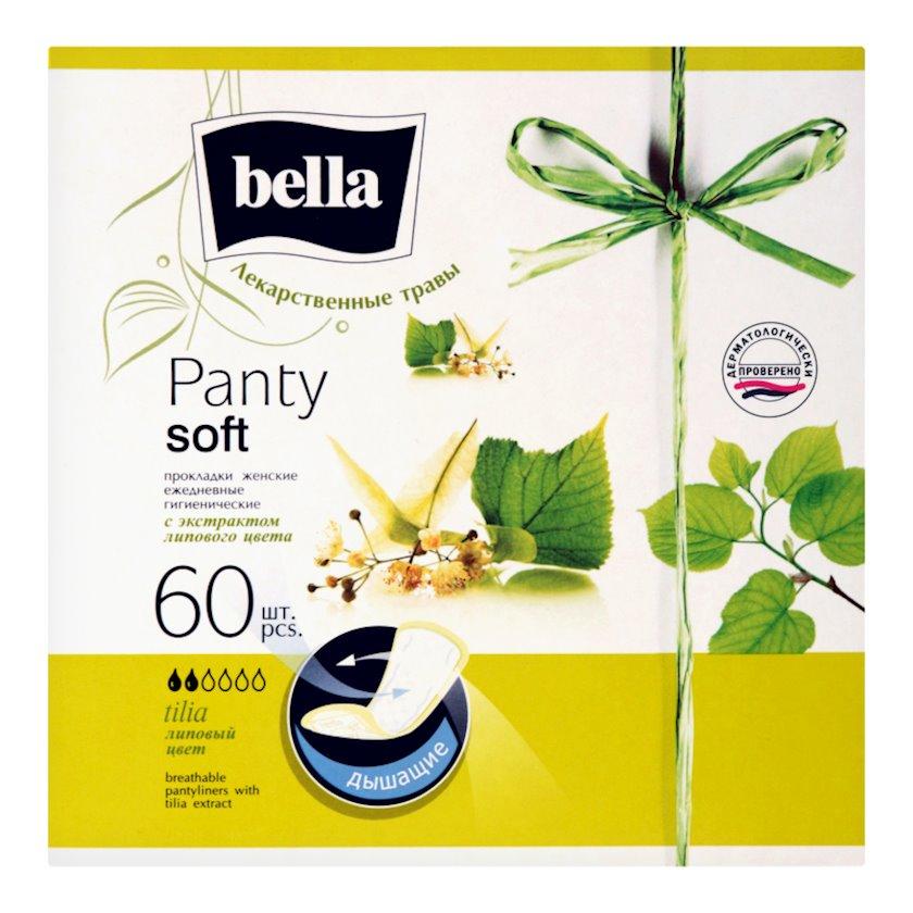 Gündəlik gigiyenik qadın bezləri Bella Panty Herbs Cökə çiçəyi ekstraktı ilə 60 ədəd