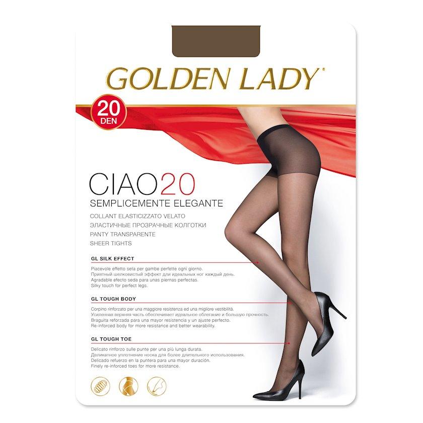 Qadınlar üçün kolqotqa Golden Lady Ciao, 20den, ölçü 4(L), Castoro, tüstülü qaralma rəngi
