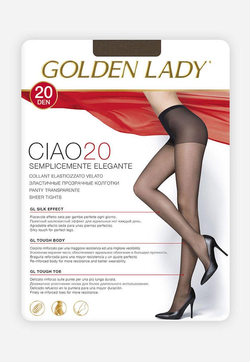 Qadınlar üçün kolqotqa Golden Lady Ciao, 20den, ölçü 3(M), Moro, tünd-qəhvəyi