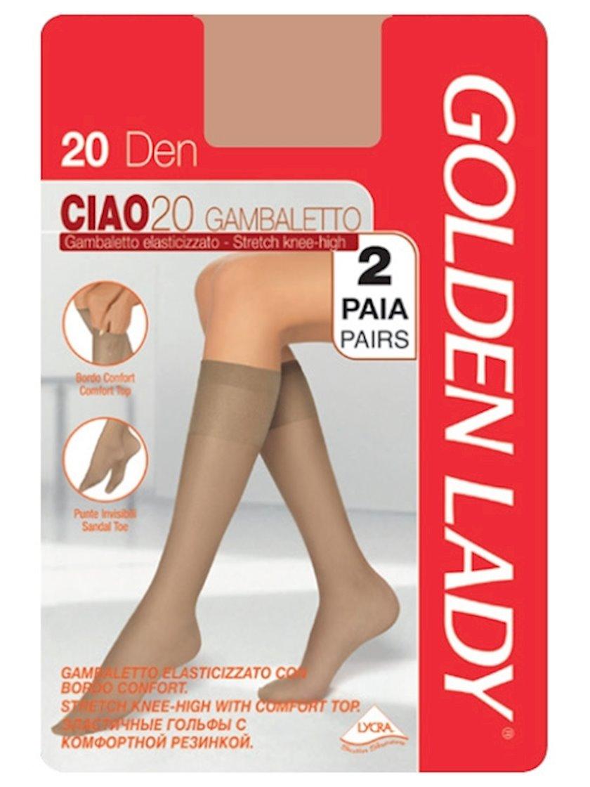 Corab Golden Lady Gambaletto Ciao, 20den, ölçü One size, Daino, bürünc çalarlı qaralma