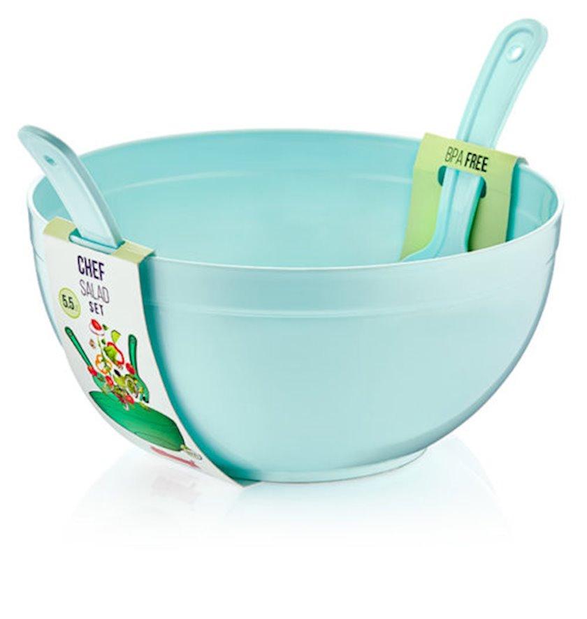 Salat üçün kasa Dunya Plastik 10706, mavi