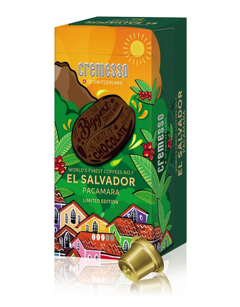 Kapsullarda qəhvə Cremesso El Salvador Pacamara, 16əd