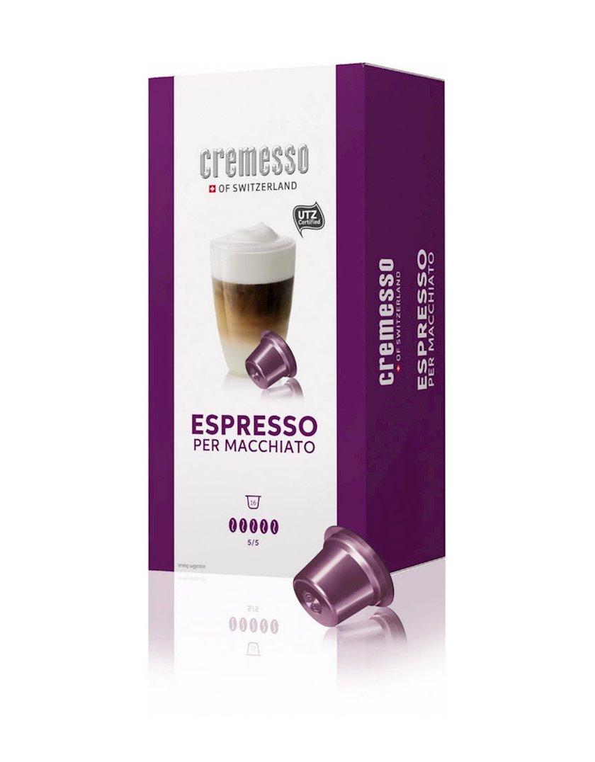 Kapsullarda qəhvə Cremesso Espresso Per Macchiato, 16əd