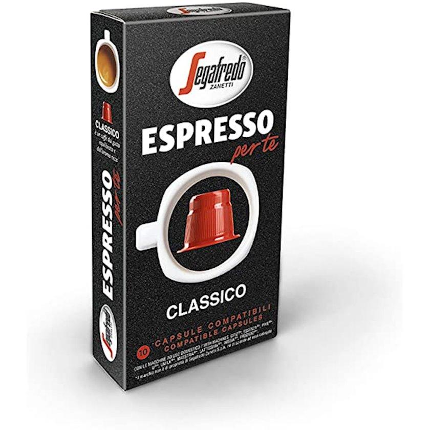 Kapsullarda qəhvə Segafredo Espresso  Classico  5.1 q x 10 əd, Nespresso aparatları üçün