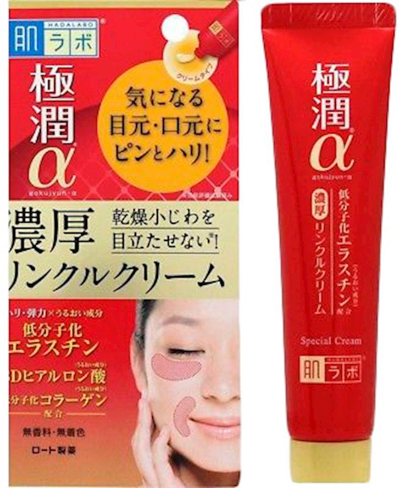 Cavanlaşdırıcı göz kremi Hada Labo Gokujyun Alpha Special Wrinkle Cream