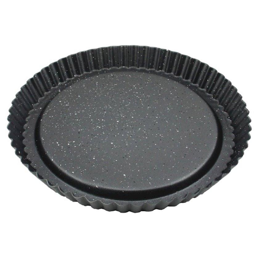 Bişirmə üçün forma Polo Shef Pie, yapışmayan örtük, paslanmayan polad, boz, 28 sm