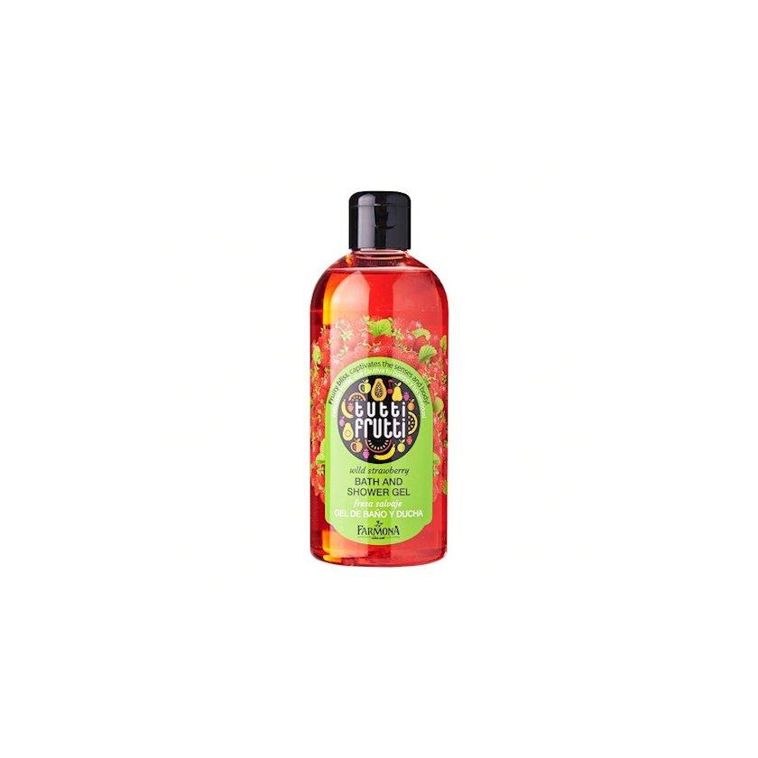 Dəst Farmona Tutti Frutti Wild Strawberry duş üçün gel 300 ml + bədən üçün yağ 150 ml