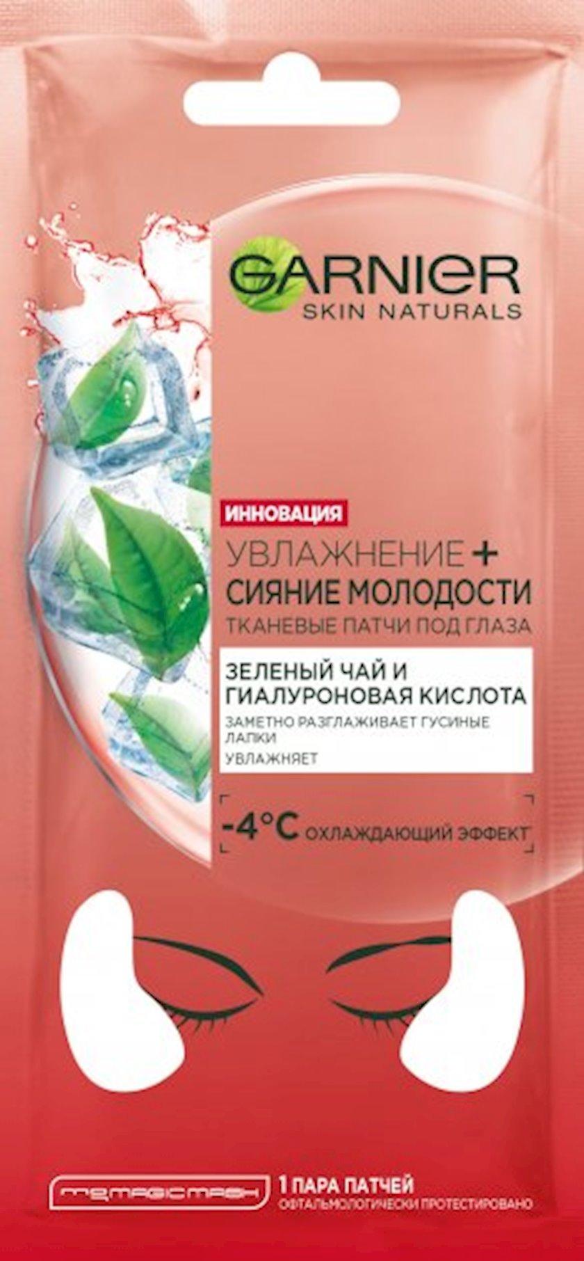 Göz altı parça patçlar Garnier Skin Naturals Nəmləndirmə+Gəncliyin parlaqlığı, 6 q