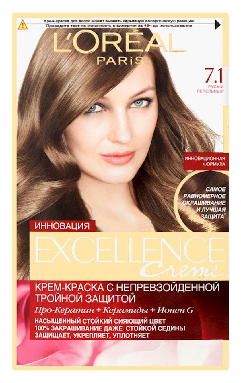 Krem-boya L'Oréal Paris Excellence Creme pro-keratin ton 7.1, Xurmayı kül, 176 ml