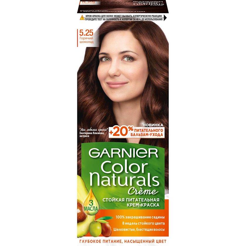 Saçlar üçün krem-boya Garnier Color Naturals, çalar 5.25, İsti şokolad, 149 ml