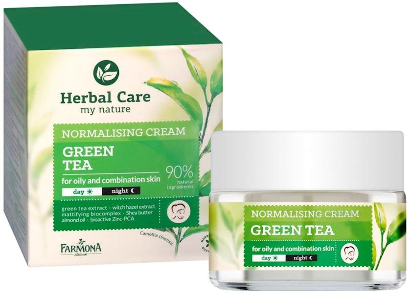 Tənzimləyici krem üz üçün Farmona Herbal Care Yaşıl çay