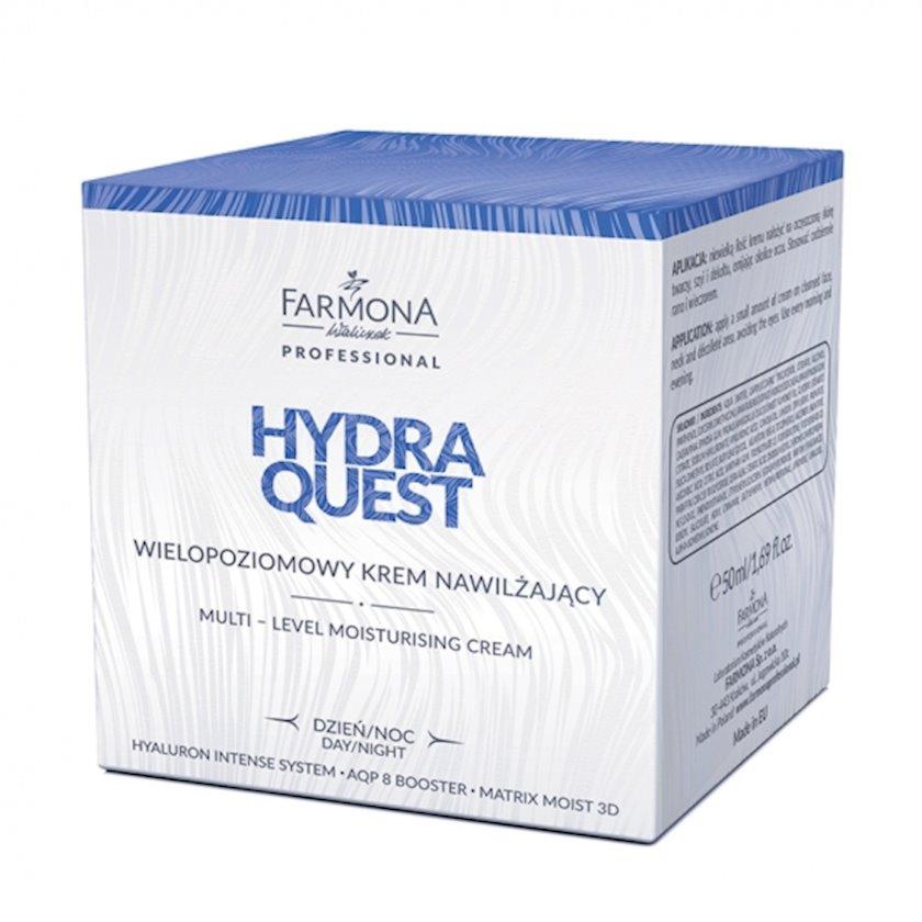 Çox səviyyəli nəmləndirici krem Farmona Hydra Quest gecə-gündüz 50 ml