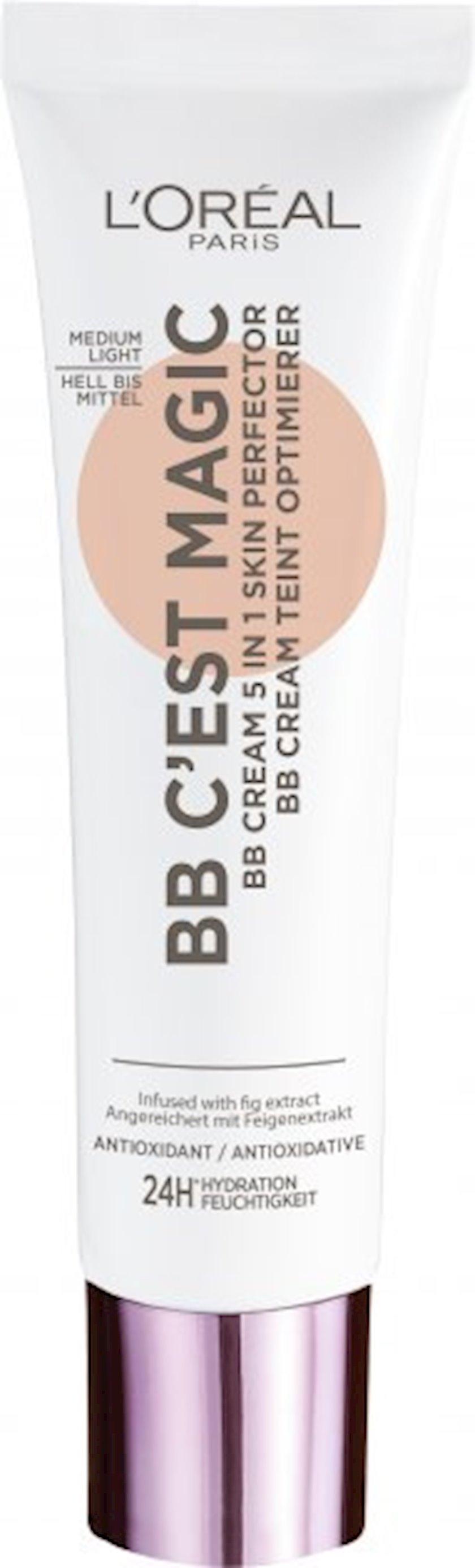 BB krem L'Oréal Paris C'est Magic 5-i birində, 3 bej, 30 ml