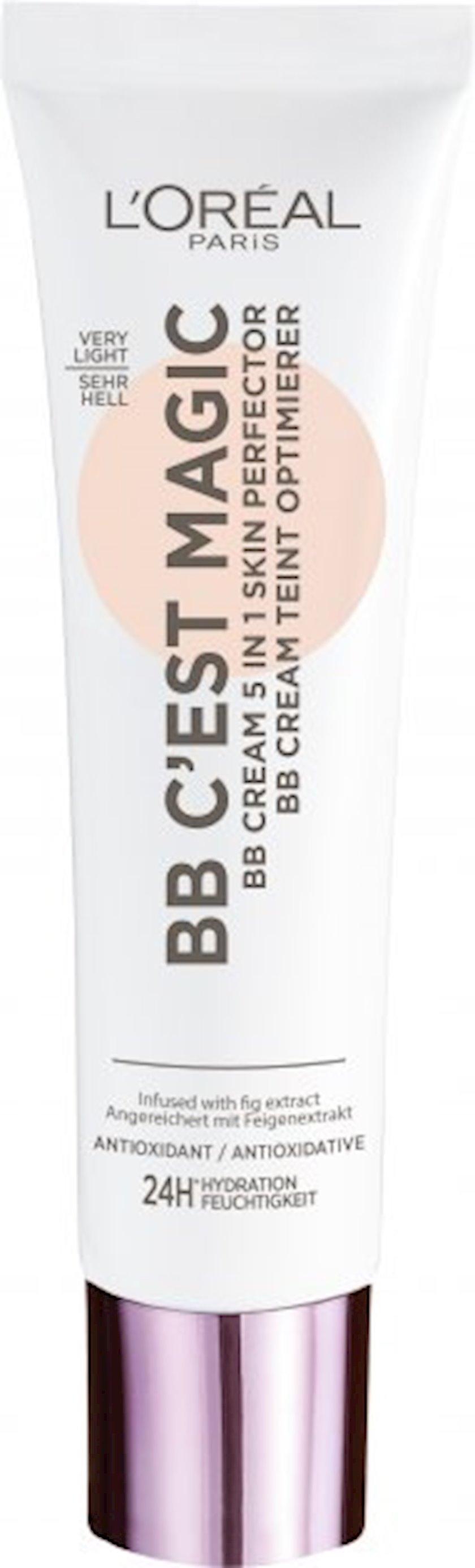 BB krem L'Oréal Paris C'est Magic 5-i birində, 1 Açıq, 30 ml