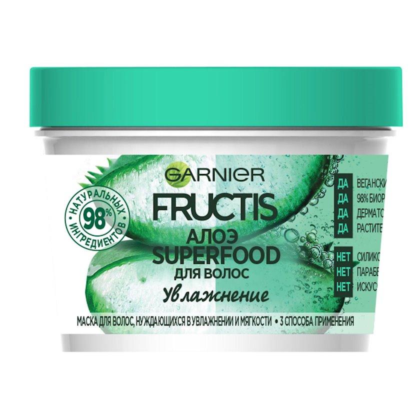 Saçlar üçün maska Garnier Fructis Superfood 3-ü 1-də Aloe, nəmləndirmə, 390 ml