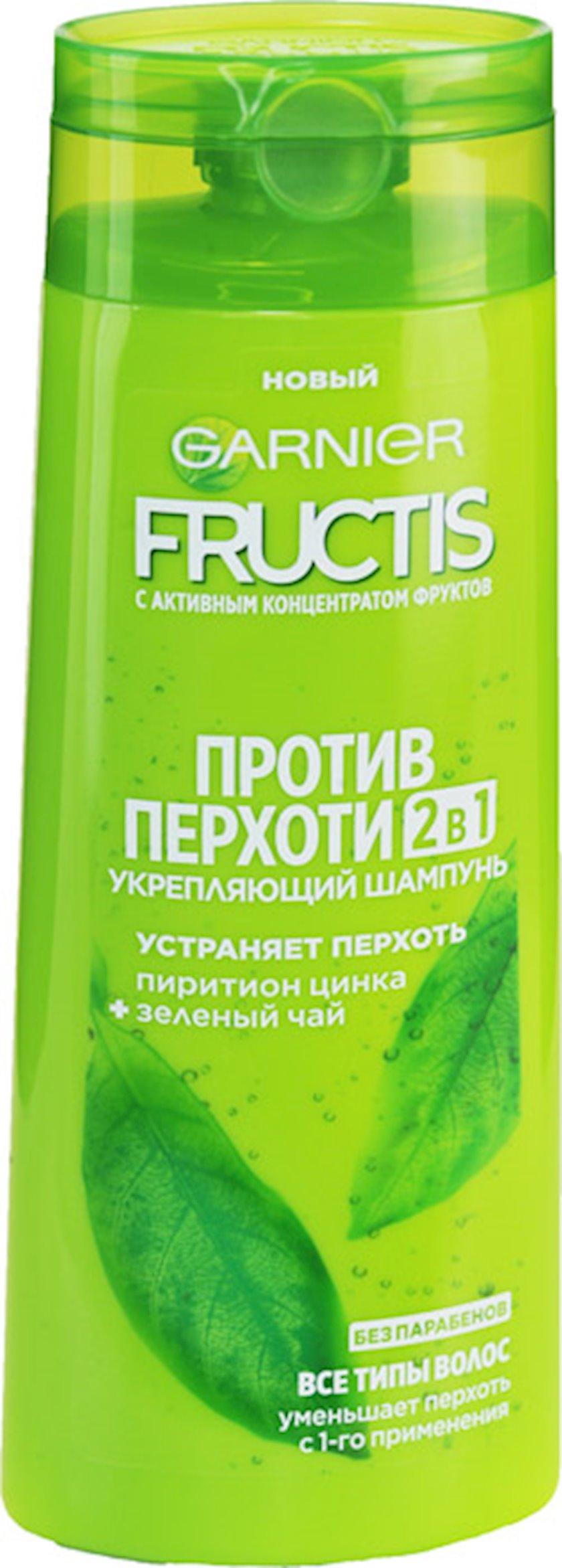 Şampun Garnier Fructis Kəpəyə qarşı, möhkəmləndirici, yaşıl çay və sink piritionu ilə, 250 ml