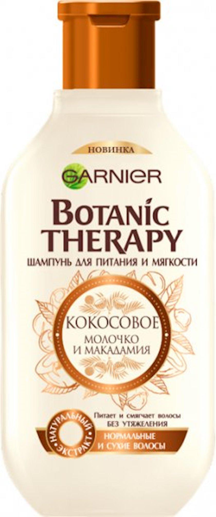 Şampun Garnier Botanic Therapy Kokos südü və Makadamiya yağı, 250 ml