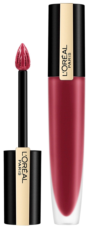 Dodaq üçün pomada-tint L'Oréal Paris Rouge Signature 115 Mən buna layiqəm, qırmızı, 7 ml