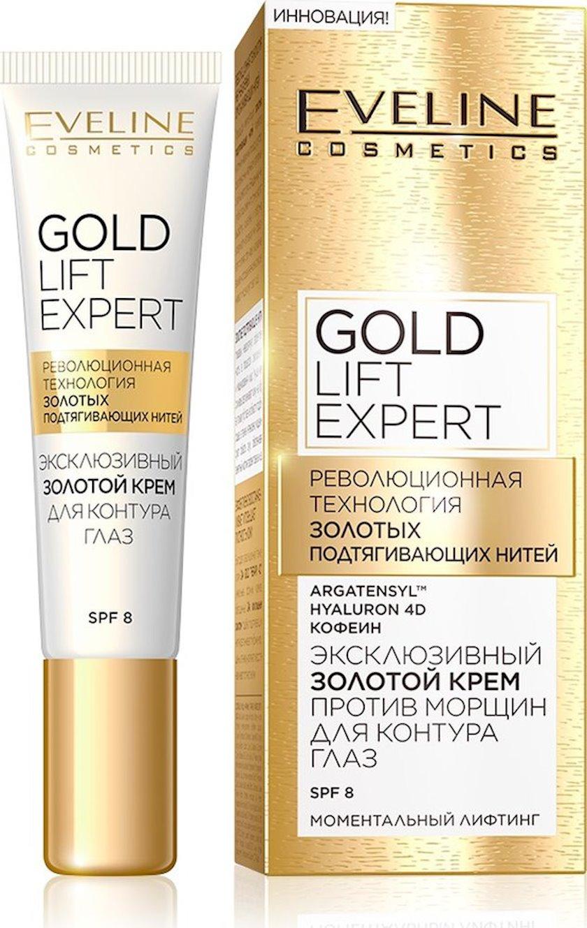 Krem göz konturu üçün Eveline Cosmetics Gold Lift Expert