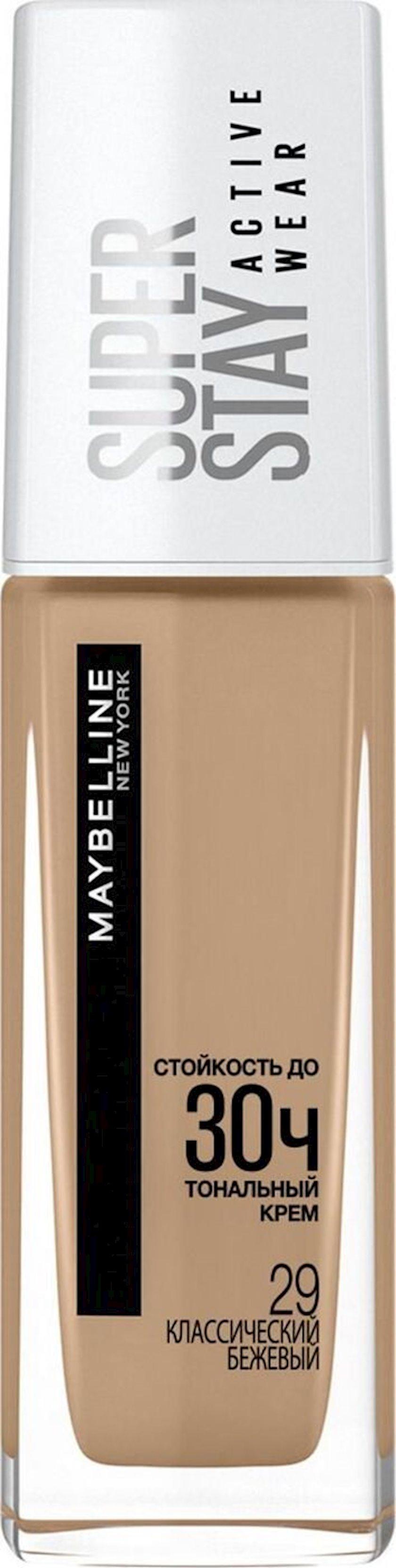 Tonal krem Maybelline Super Stay Active Wear 30 s, çalar 29 Klassik bej, 30 ml