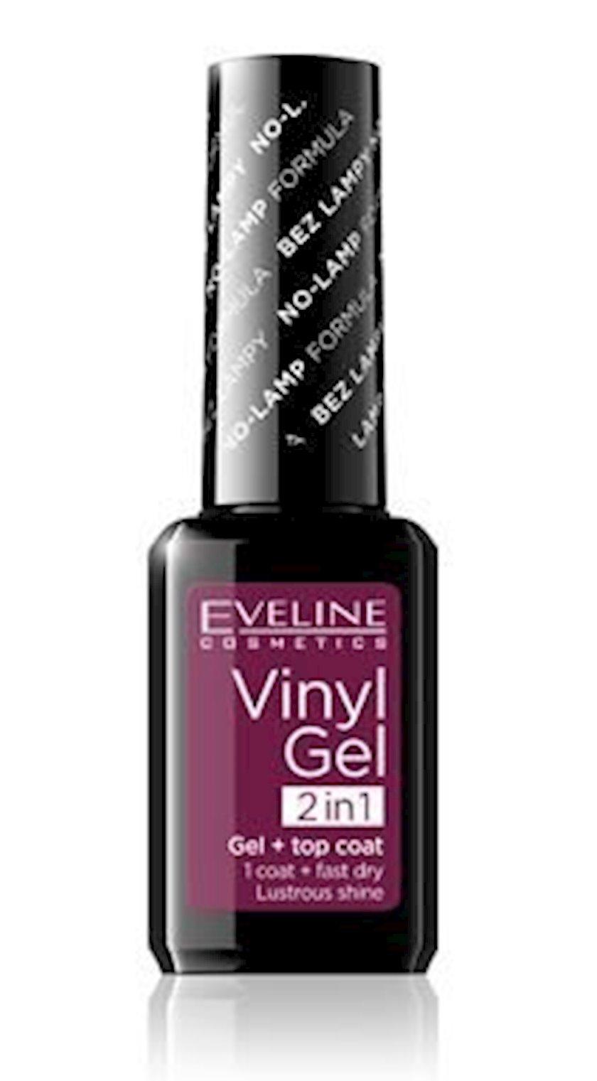 Vinil gel-lak Eveline Cosmetics Vinyl Gel 2In1 Gel+Top Coat №209 12 ml