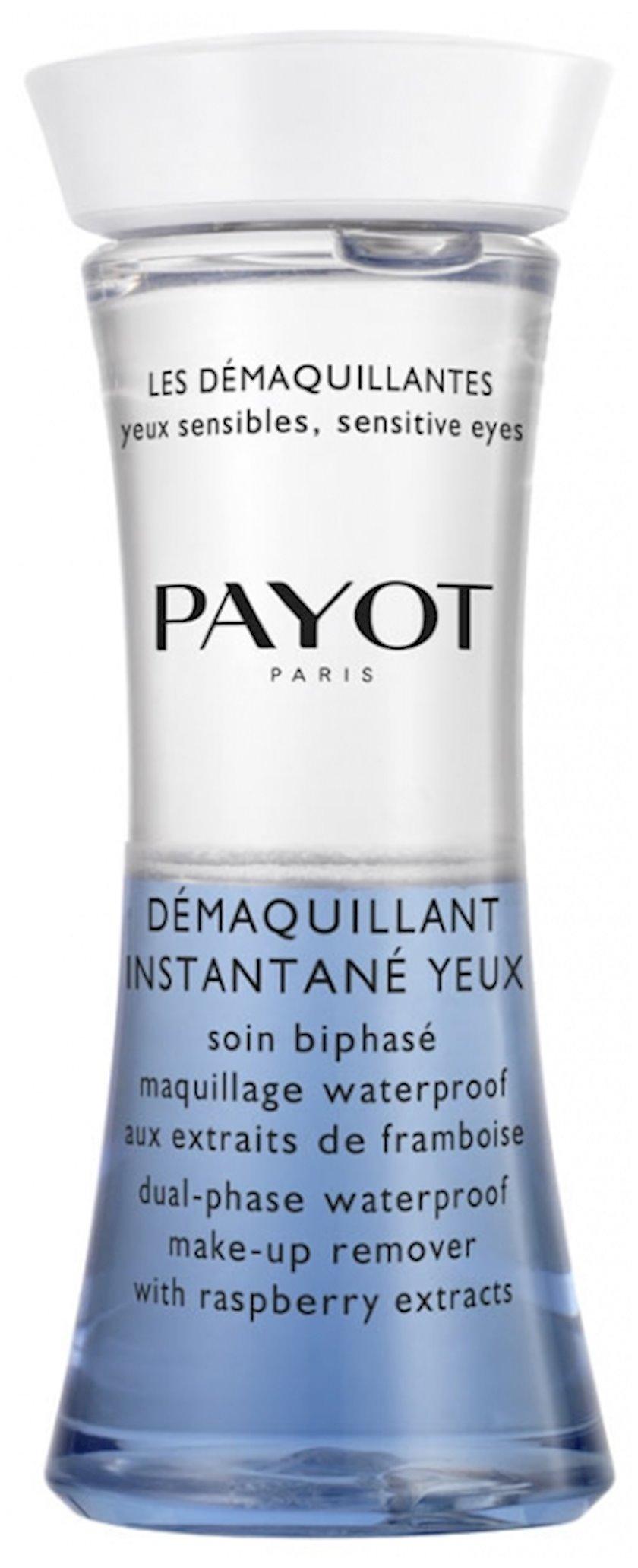 Fluid Payot Les Demaquillantes təmizləyici və hamarlaşdırıcı, göz və dodaqlar üçün, 125 ml