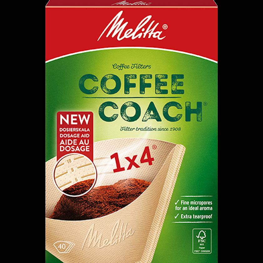 Qəhvə maşınları üçün filtr Melitta Coffee Coach Coffee Filters (Size 1x4 - 40 pack)