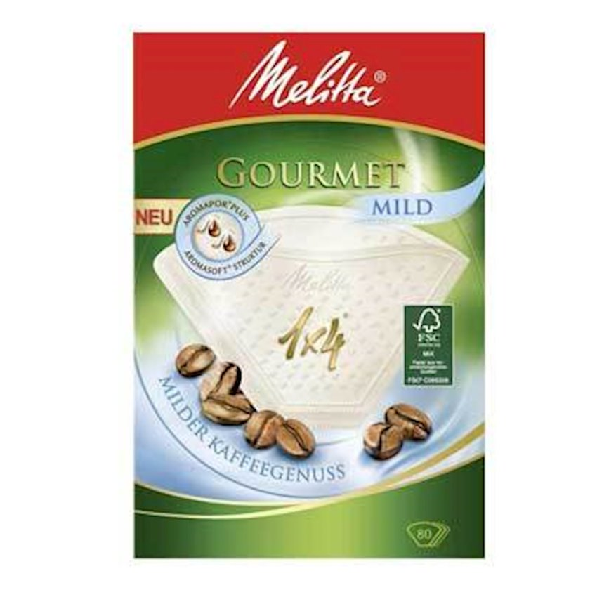 Qəhvə filtrləri Melitta Gourmet Mild 1x4 (80 əd)