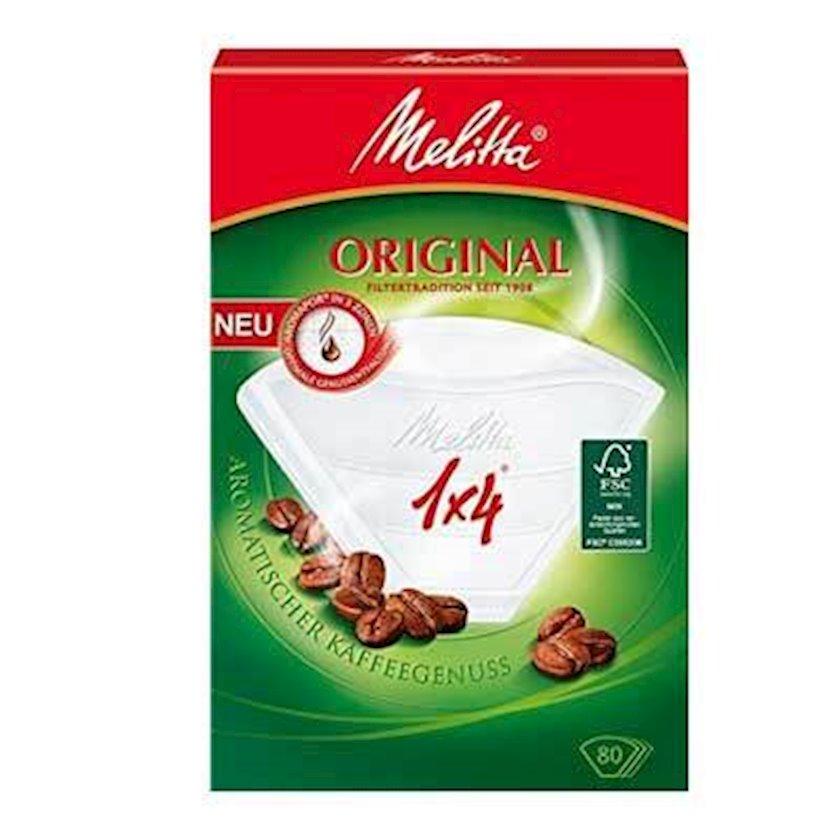 Qəhvə filtrləri Melitta Original Coffee Paper Filters 1 x 4 (80 pcs)