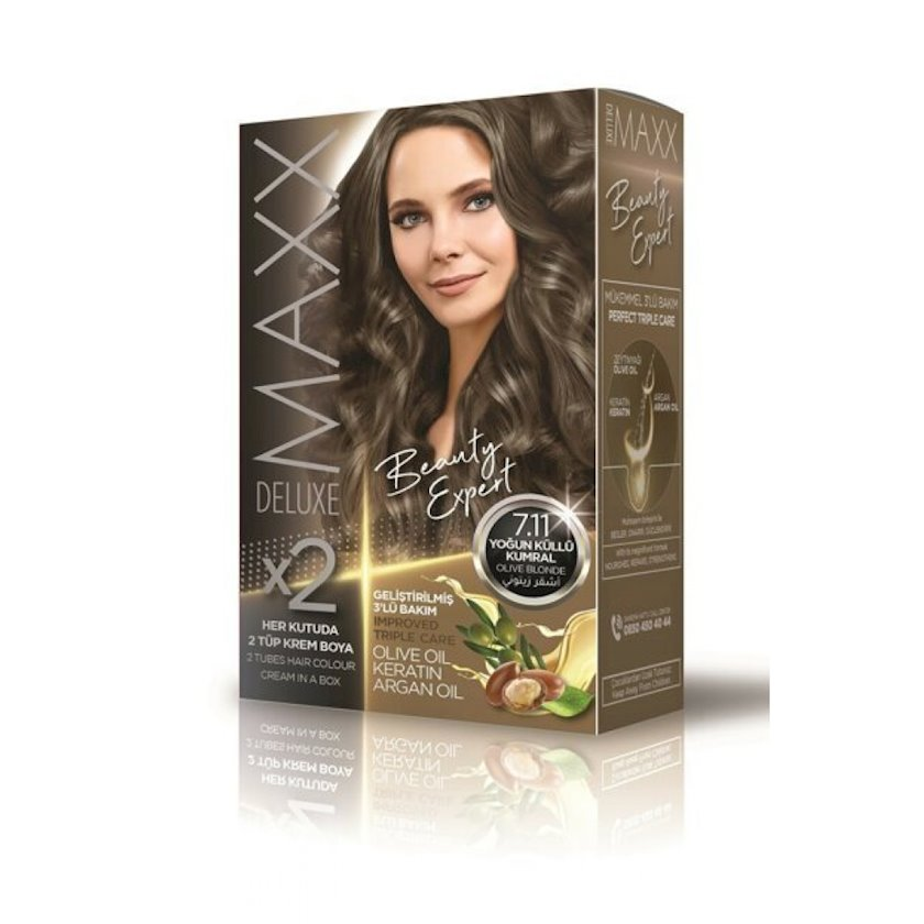 Saç boyası Maxx deluxe Beauty Expert 7.1 Kül sarışın, 340ml