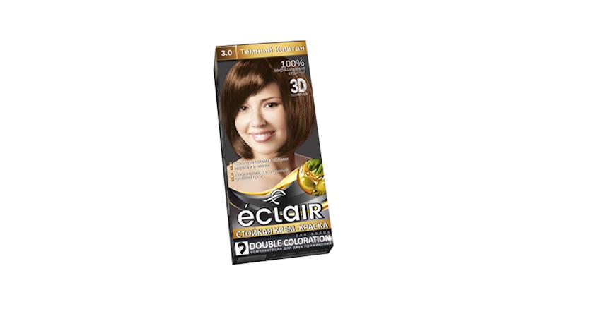 Saç üçün davamlı krem-boya Eclair Tünd şabalıd 3.0