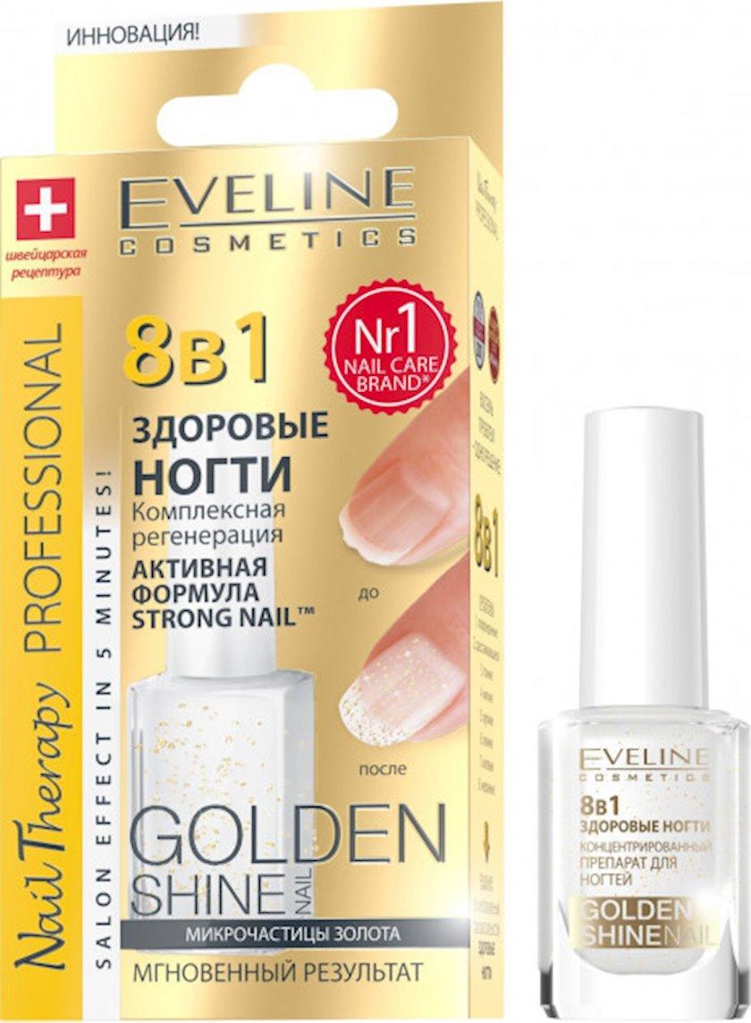 Kompleksli dırnaq bərpası Golden shine seriyasından Eveline 8-i 1-də nail therapy professional, 12 ml