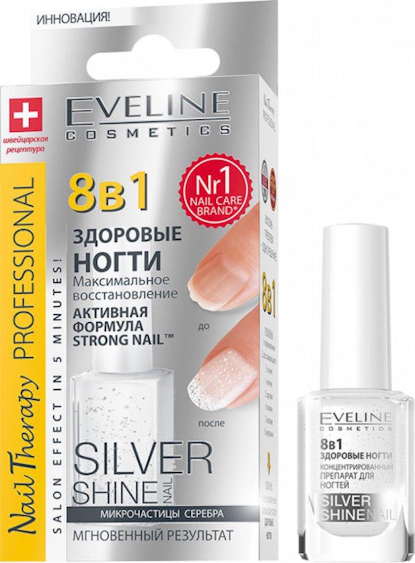 Maksimal bərpaetmə Silver shine seriyasından Eveline 8-i 1-də nail therapy professional, 12 ml