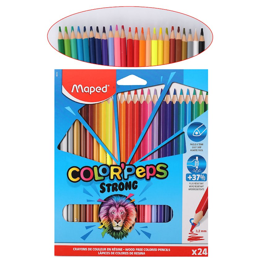 """Rəngli karandaşlar Maped """"Color"""" Peps """",üçbucaqlı,24 rəng"""