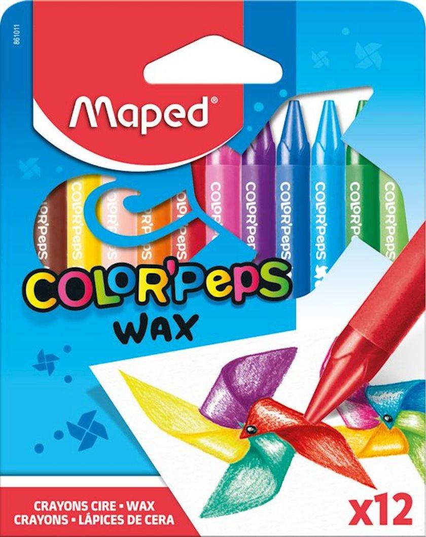 """Mum qələmləri Maped """"Color Peps Wax Crayons"""",12 rəng"""