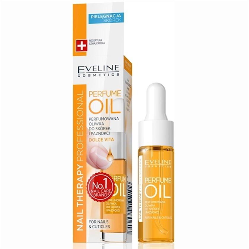 Kutikul və dırnaqlar üçün aroma yağı Eveline perfume oil dolce vita  nail therapy professional, 12ml
