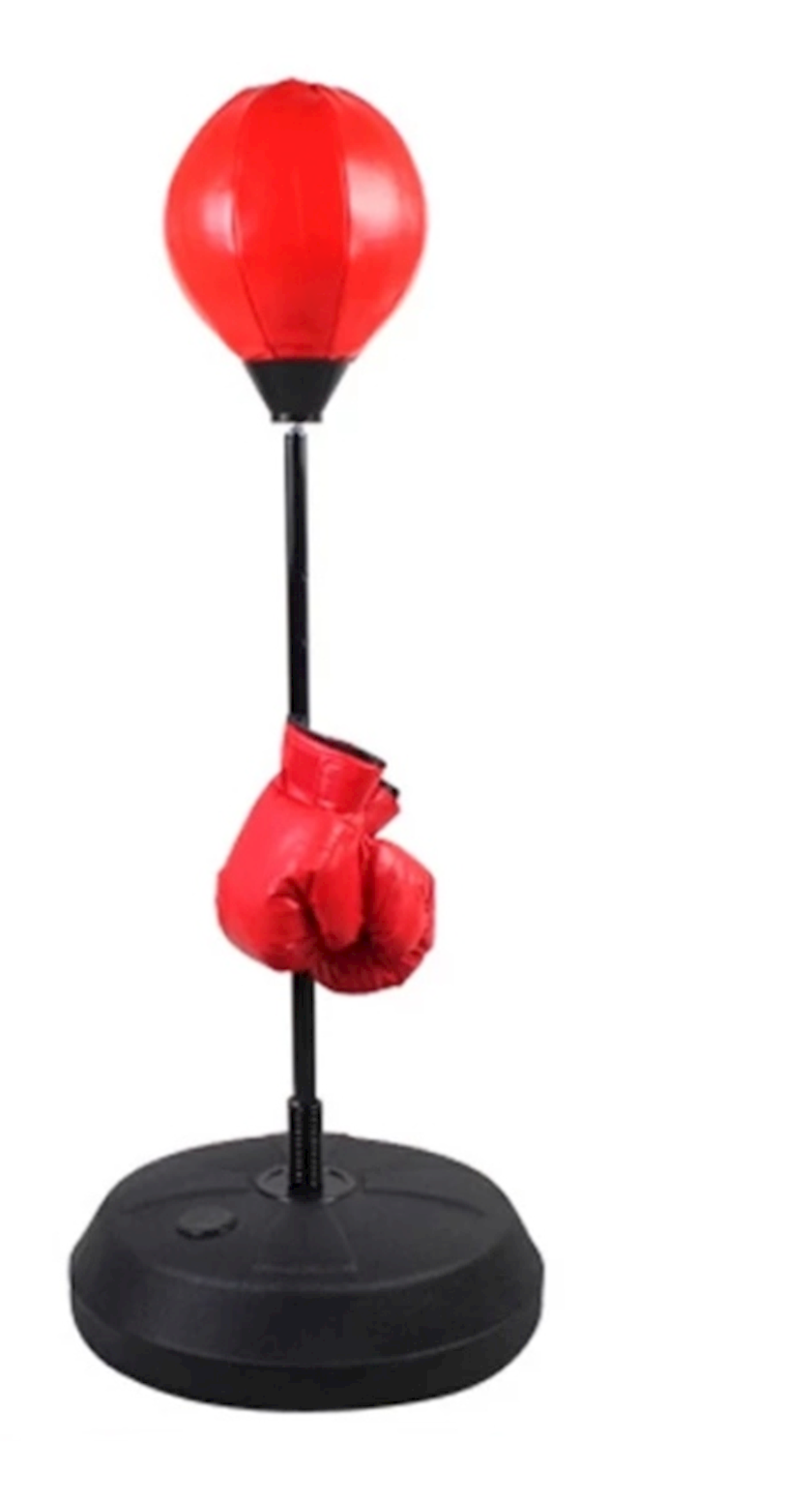 Boks topu Kailun, tənzimlənən dayaq üstündə 80-120 sm, qırmızı/qara