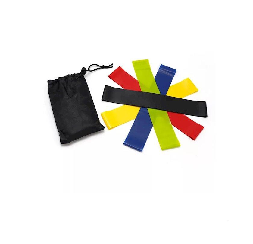 Fitnes üçün elastik rezin Ketler Latex Band 0.4 mm, rezin, müxtəlif rənglər