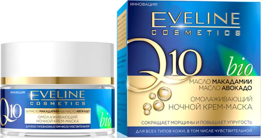 Gecə krem-maskası Eveline Cosmetics Koensizm Q10 Yaşlanmaya qarşı, 50 ml