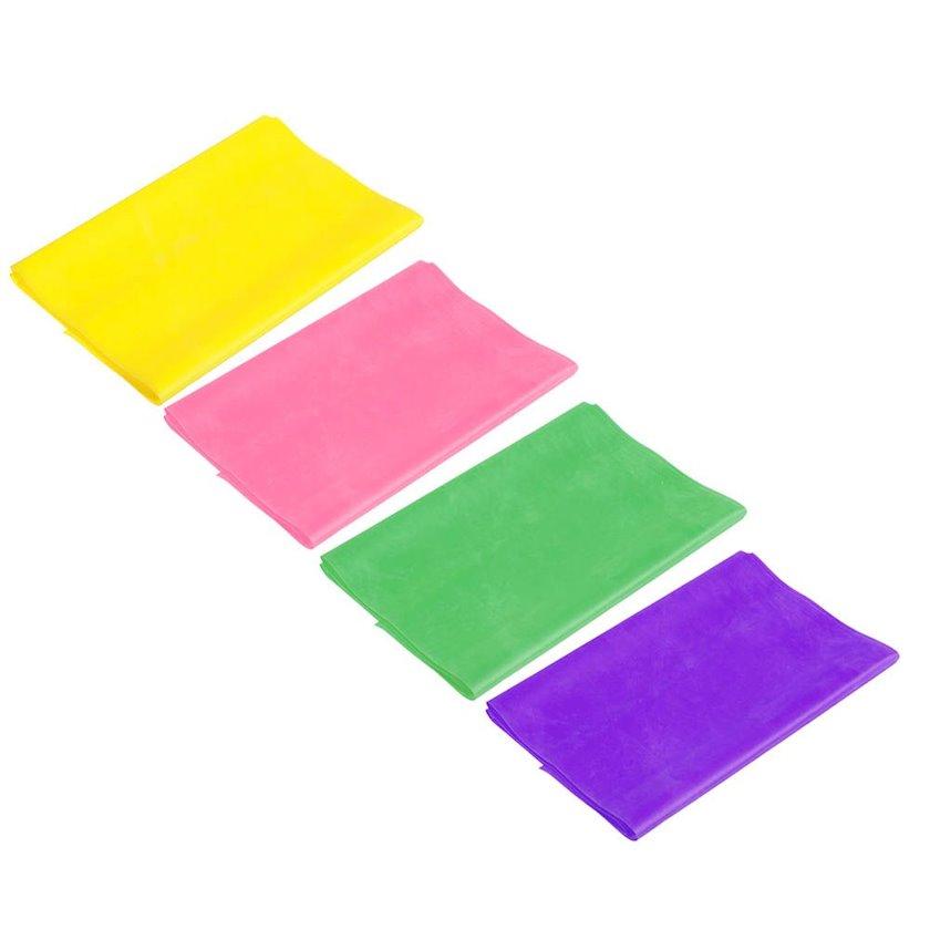 Yoqa və pilates üçün elastik lent Silapro, müxtəlif rənglər, 150х15х0.35 sm
